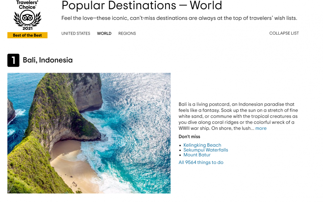 Bali – Voted #1 TripAdvisor's Travellers Choice